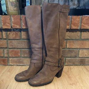 Born Taro Leather Knee High Heeled Riding Boot